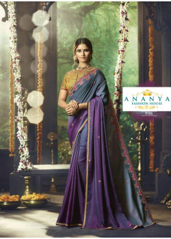 Incredible Multicolor Barfi Saree with Beige Blouse