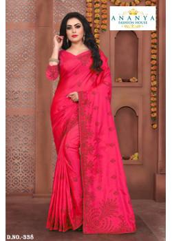 Magnificient Magenta Silk Saree with Magenta Blouse