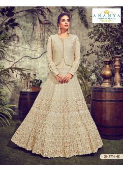 Gorgeous Off White Georgette Salwar kameez