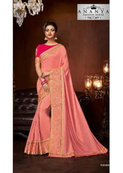 Exotic Pink Silk Saree with Magenta Blouse