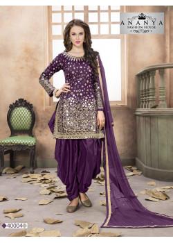 Divine Purple Taffeta Silk Salwar kameez