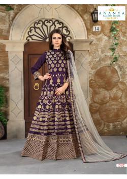 Classic Purple Silk- Santoon Salwar kameez