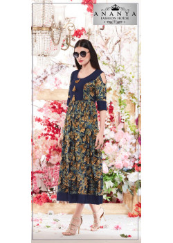 Adorable Blue Rayon Kurti