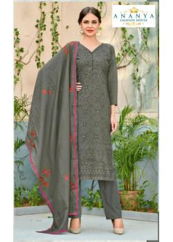 Divine Grey Chanderi Salwar kameez