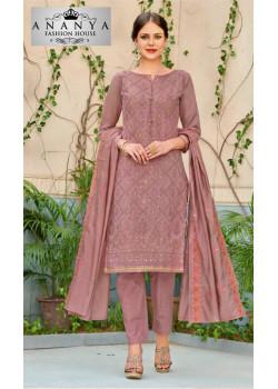 Flamboyant Pastel Pink Chanderi Salwar kameez