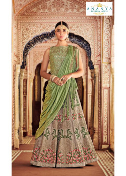 Dazzling Multicolor color Silk - Santoon Designer Lehenga