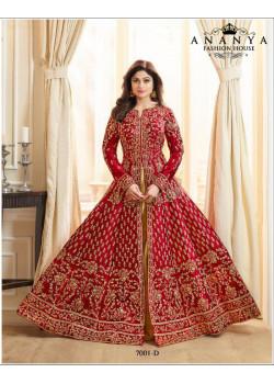 Incredible Red Silk Salwar kameez