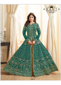 Exotic Sea Green Silk Salwar kameez