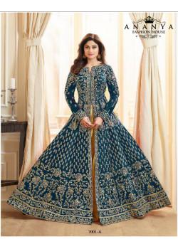 Gorgeous Blue Silk Salwar kameez