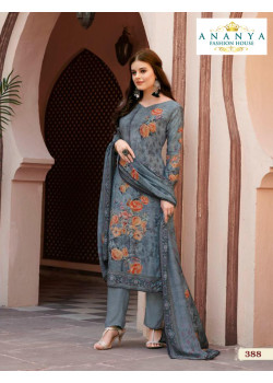 Enigmatic Grey Satin Salwar kameez