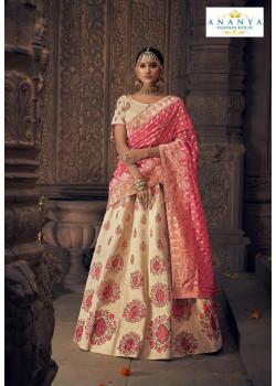 Adorable Off White color Silk Designer Lehenga