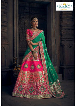 Enigmatic Pink color Silk Designer Lehenga