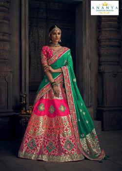 Enigmatic Pink color Silk Designer Lehenga