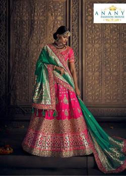 Incredible Pink color Silk Designer Lehenga