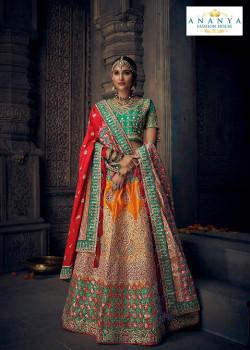 Magnificient Multicolor color Silk Designer Lehenga
