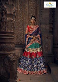 Melodic Multicolor color Silk Designer Lehenga