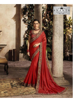 Melodic Maroon Silk Saree with Maroon Blouse