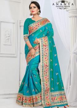 Gorgeous Magenta Silk Saree with Magenta Blouse