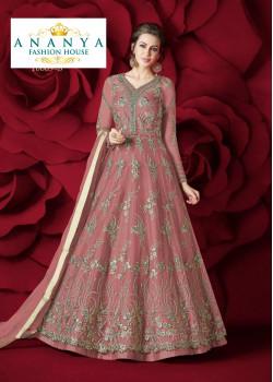 Exotic Pink Net- Silk Salwar kameez