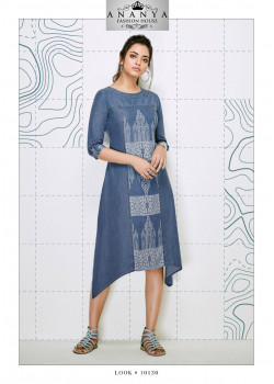 Incredible Blue Denim Kurti