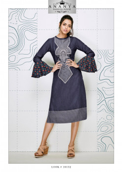 Enigmatic Blue Denim Kurti