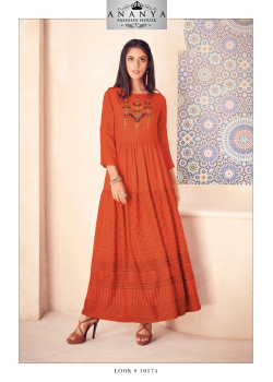 Exotic Orange Modal Kurti