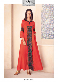 Plushy Orange Modal Kurti