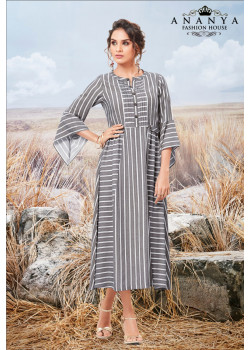 Charming Grey Pure viscose Kurti