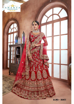Incredible Red color Velvet Designer  Lehenga
