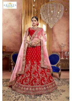 Luscious Red color Velvet Designer  Lehenga