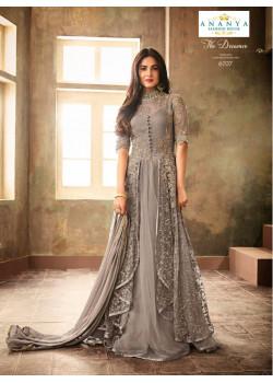 Flamboyant Grey Net- Santoon Salwar kameez