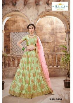 Gorgeous Light Green color Nylon - Satin - Silk Designer Lehenga