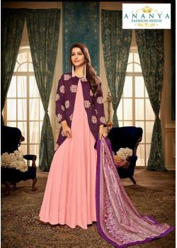 Gorgeous Pink- Purple Muslin Salwar kameez