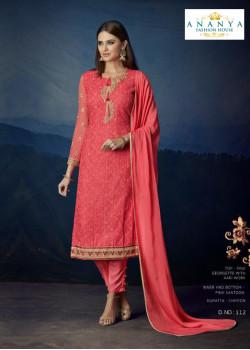 Charming Pink Georgette Salwar kameez