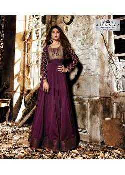Magnificient Violet Silk Georgette- Santoon Salwar kameez