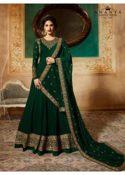 Gorgeous Bottle Green Pure Georgette Salwar kameez