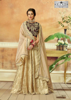 Gorgeous Beige color Net Designer Lehenga