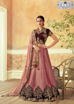 Melodic Lavender color Jacquard Silk Designer Lehenga