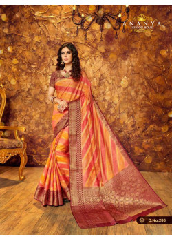 Plushy Multicolor Silk Saree with Multicolor Blouse