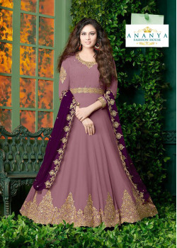 Trendy Lavender Faux Georgette- Santoon Salwar kameez