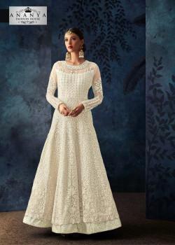 Magnificient White Net- Silk Salwar kameez