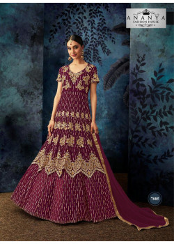 Incredible Violet Geogrette- Santoon Salwar kameez