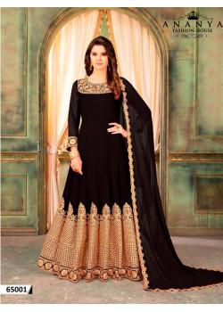 Trendy Black Faux Georgette- Santoon Salwar kameez