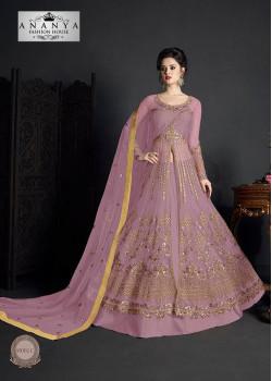 Enigmatic Lavender Net- Santoon Salwar kameez