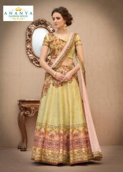 Divine Light Yellow color Banarasi Silk Designer Lehenga