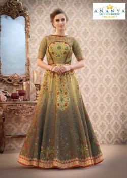 Flamboyant Multicolor color Banarasi Silk Designer Lehenga