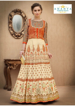 Melodic Off White color Banarasi Silk Designer Lehenga