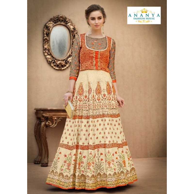 Melodic Off White color Banarasi Silk Designer Lehenga