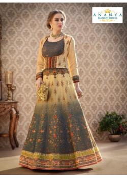 Trendy Multicolor color Banarasi Silk Designer Lehenga