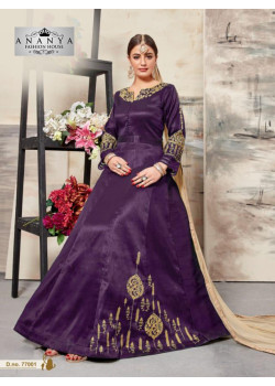 Charming Purple Silk Salwar kameez